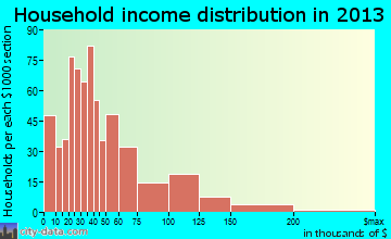 Mount Rainier household income distribution