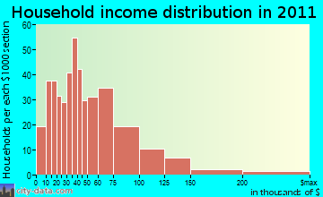 Dalton household income distribution