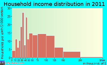 Bellingham household income distribution