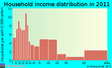 Chatham household income distribution