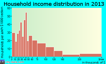 Chelsea household income distribution