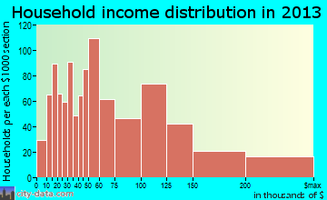Golden Valley household income distribution