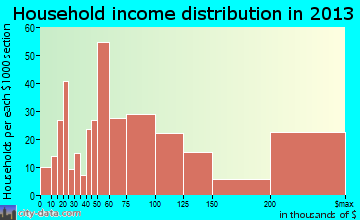 Orono household income distribution