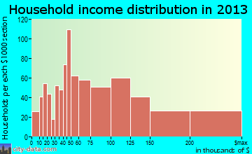 Madison household income distribution