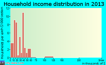 Ravenden household income distribution