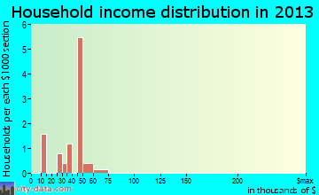 Rudy household income distribution