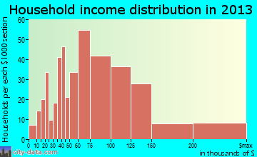 Spring Creek household income distribution