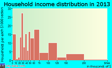 Minden household income distribution