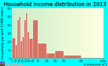 Indian Hills household income distribution