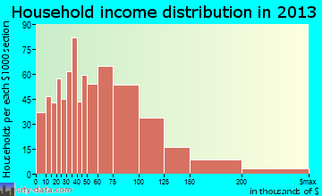 Avenel household income distribution
