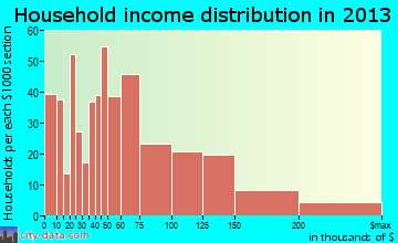 East Rutherford household income distribution