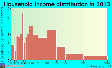 Laurel Springs household income distribution