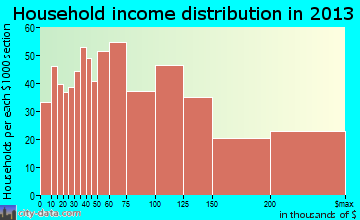 Metuchen household income distribution