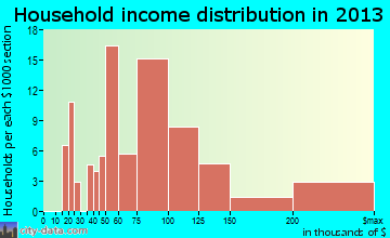 Monmouth Junction household income distribution