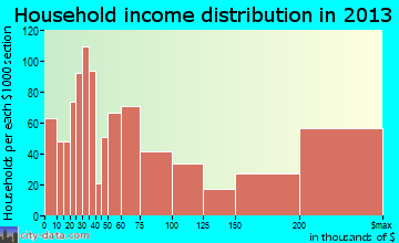 Princeton household income distribution