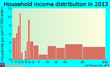 Princeton Junction household income distribution
