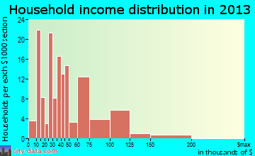 Rio Grande household income distribution
