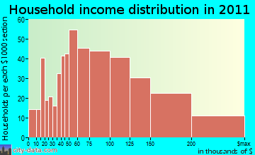 Succasunna-Kenvil household income distribution