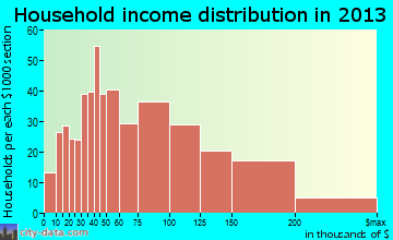 Wanaque household income distribution