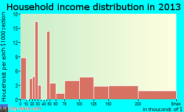 White House Station household income distribution