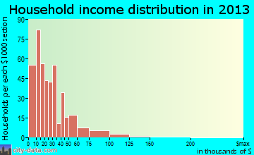 Truth or Consequences household income distribution