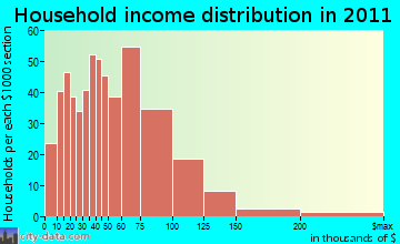 Williamson household income distribution