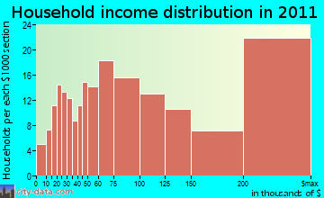 North Castle household income distribution