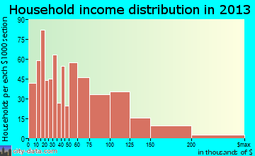 Mastic household income distribution