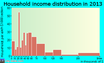Menands household income distribution