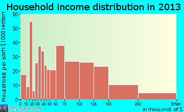 Orange Lake household income distribution