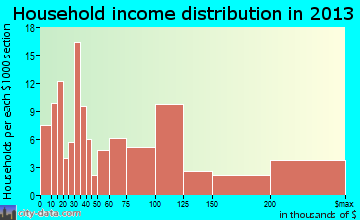 Remsenburg-Speonk household income distribution