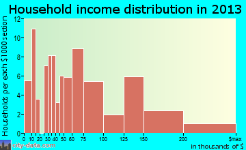 Rock Hill household income distribution