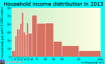 Ronkonkoma household income distribution