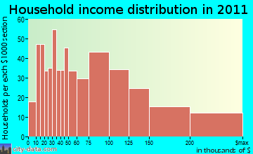 Salisbury household income distribution
