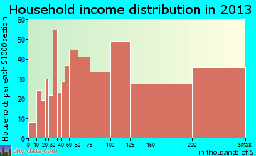 Setauket-East Setauket household income distribution