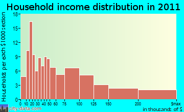 Skaneateles household income distribution
