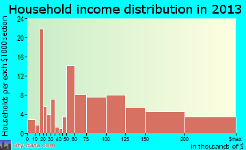 Thornwood household income distribution