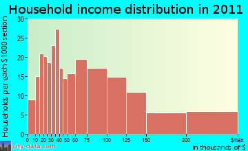 Mendon household income distribution