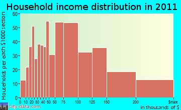 Putnam Valley household income distribution