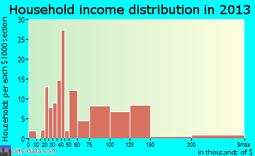 Brices Creek household income distribution