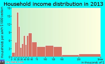 Cedar Point household income distribution