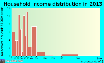 Faison household income distribution