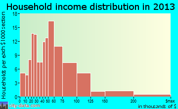 Laurel Park household income distribution