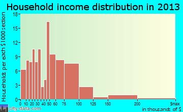 Mount Pleasant household income distribution