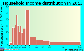 Durham household income distribution