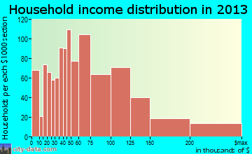 Wake Forest household income distribution