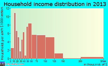 Washburn household income distribution