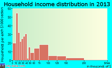 Fowler household income distribution