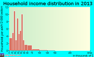 Jewett household income distribution