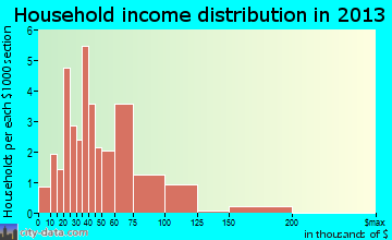 Metamora household income distribution